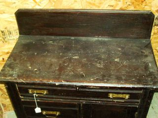Very Old Antique Eastlake Cupboard Kitchen Commode photo