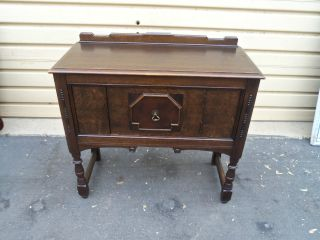 50230 Antique Oak Server Buffet Cabinet photo