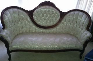 Victorian Couch 9 Piece Set Table And Chairs photo