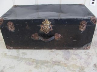 Antique,  Vintage Trunk With Excelsior Lock 1297 photo