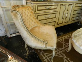 French Side Chair Finish - Cream/gold photo