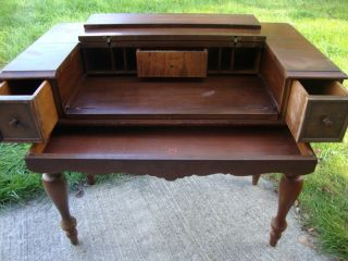 Antique Hekman Spinet Secretary Desk 1920 ' S photo