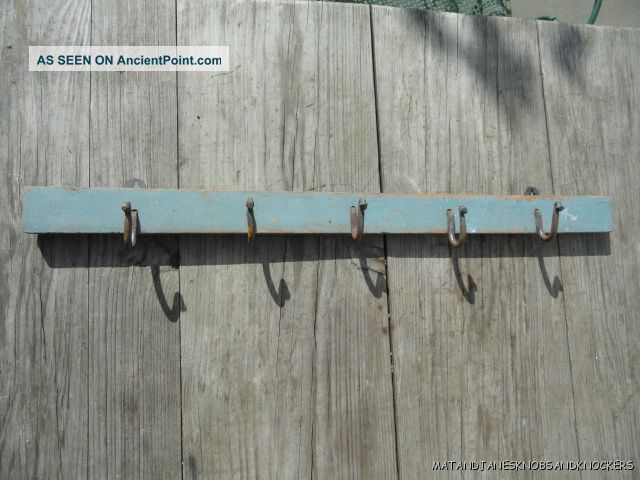 Antique Shabby Chic Coat Rack Hook Distressed Paint Wall Rack Hooks H4 Hooks & Brackets photo