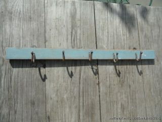 Antique Shabby Chic Coat Rack Hook Distressed Paint Wall Rack Hooks H4 photo