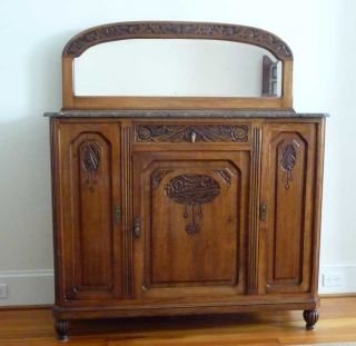 Antique French Art Deco Sideboard (mint Condition) photo