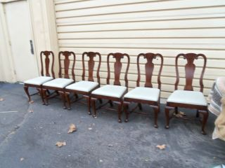 49858 Set 6 Thomasville?? Cherry Dining Room Chairs Chair S photo