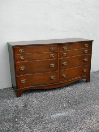 Mahogany Serpentine Dresser By Bassett 2405 photo