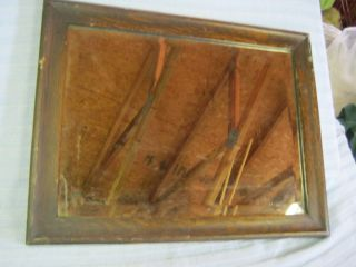 Vintage Oak Beleved Mirror Long Square Heavy L@@k photo