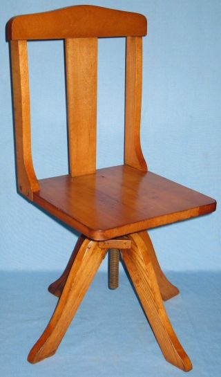 Vintage Childs Swivel Desk Chair Circa 1900 - 1940 photo