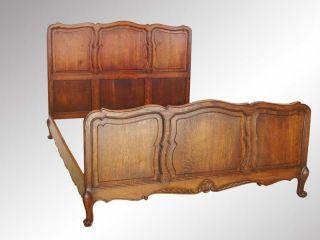 15113 Antique Oak Carved Oversize Full Bed photo