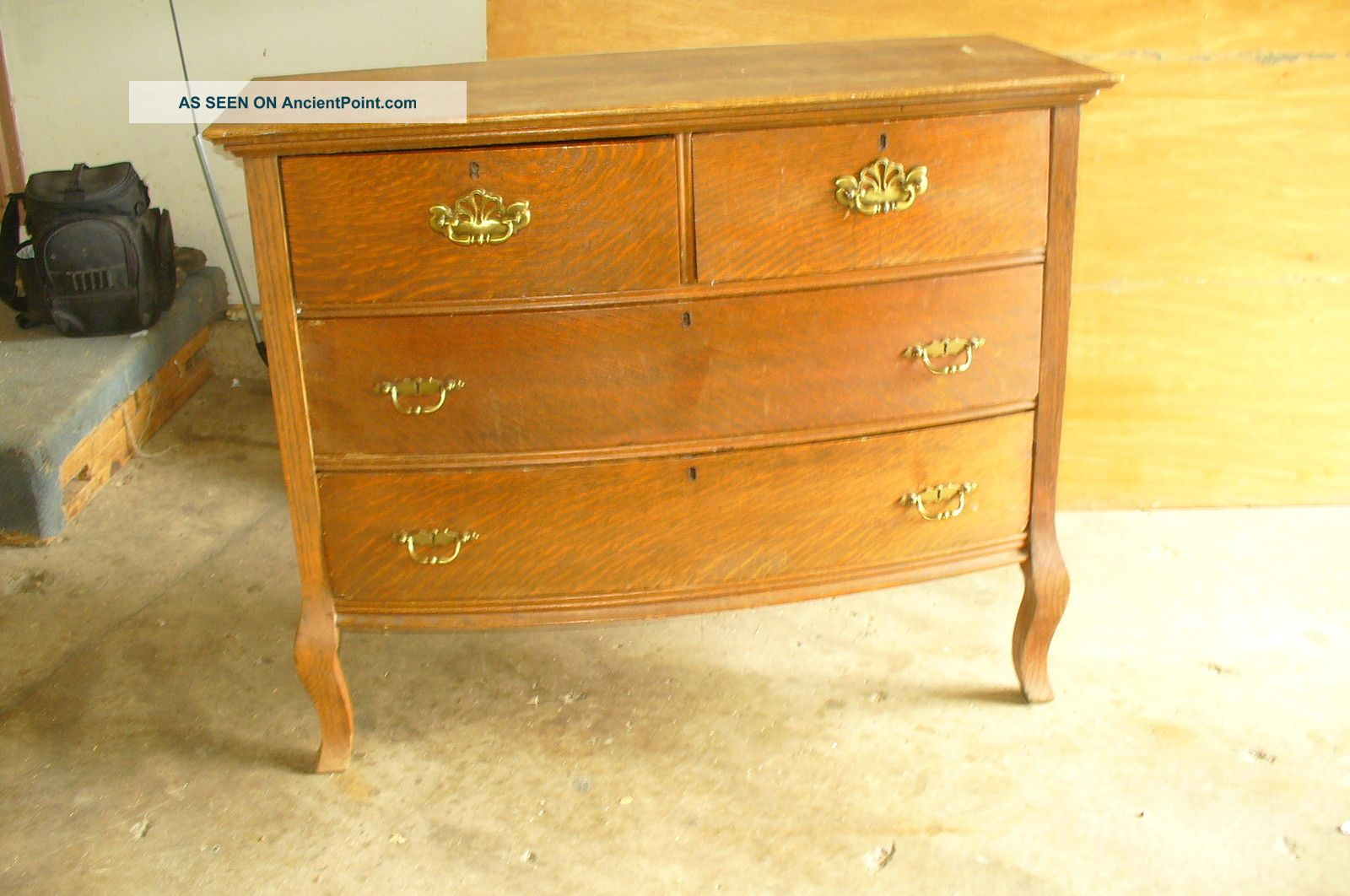 Antique Dresser Possible Vintage Bathroom Vanity Curved Front Local Pickup  Only