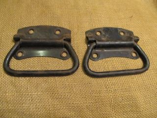 2 Matching Solid Iron Heavy Thick Trunk Handles 5