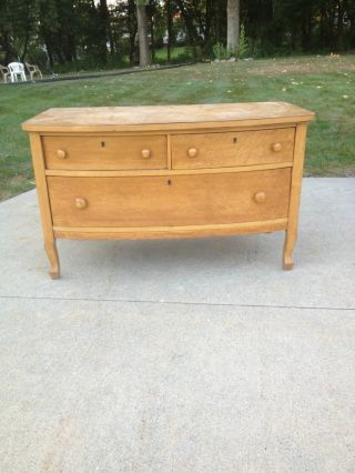 Gorgeous 1930 - 1940s Birds Eye Maple Antique Dresser - photo
