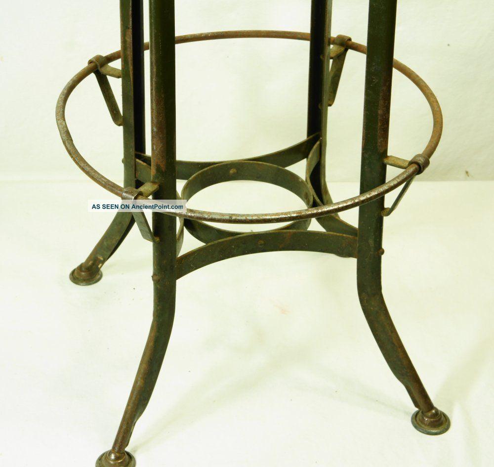 vintage toledo uhl stool machine age industrial drafting cha