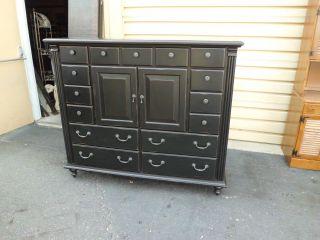 50954 Nichols + Stone Ebony High Chest Dresser photo