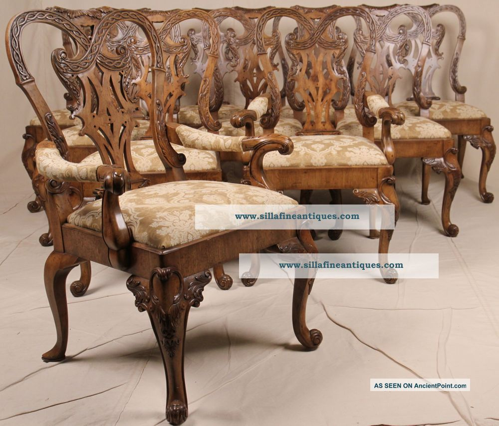 Antique Chippendale Dining Chairs Antique Chippendale Dining