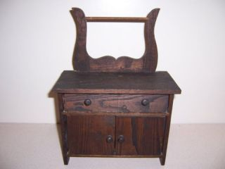 1905 Converse Antique Oak Commode Furniture Sample Toy photo