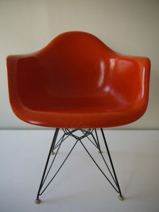 1970s All Vintage Eames Dar Eiffel Arm Shell Chair Herman Miller photo