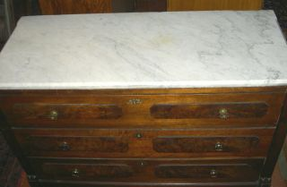 Antique Walnut Victorian Marble Top Walnut Chest 1880s_at Wholesale Price_$165 photo