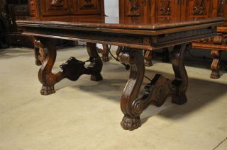 Spanish Dining Table With Iron Stretcher Opens To 109 Wide photo