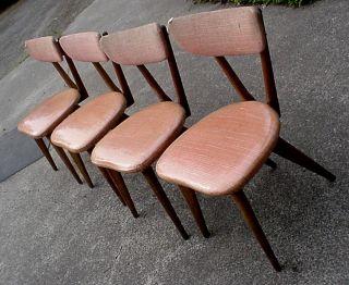 William Kalpe California Designer 1958 Mid - Century Modern 4 Chairs All photo