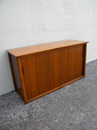 Vintage Mid - Century Record Cabinet 2255 photo