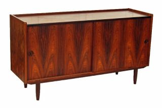 Danish Modern Rosewood Sideboard Server Buffet Credenza photo