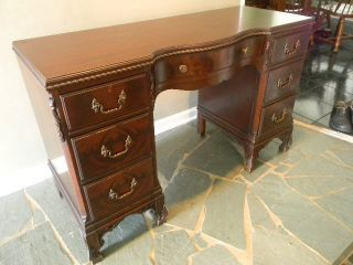 Chinese Chippendale Mahogany Vanity - Antique photo