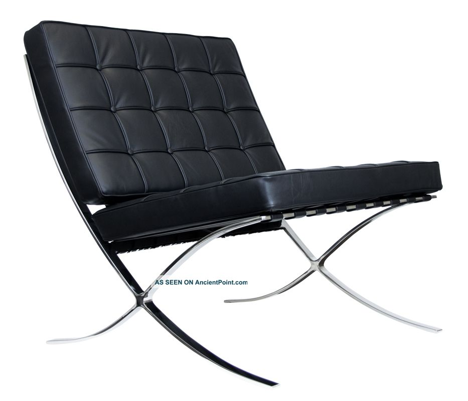 Barcelona Style Chair - Spanish Pavilion Chair - $699 - Black 1900 ...