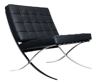 Barcelona Style Chair - Spanish Pavilion Chair - $699 - Black photo