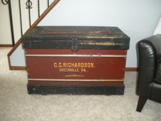 Antique Trunk / Chest Circa Early 1900 ' S,  C.  C.  Richardson Greenville photo