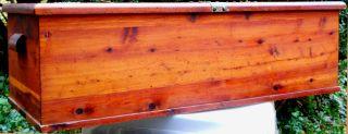 Antique Cedar Chest Smaller Size - Lid Is 16 X 39 photo