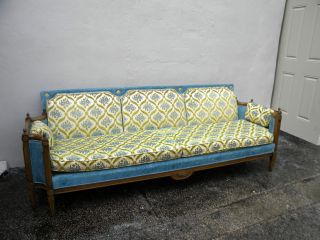 1960 ' S Mid - Century Long Low Couch / Sofa 2710 photo