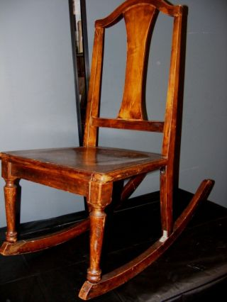 Good Ole Solid Wood Pretty Sewing Rocker Rocking Chair - Great Project photo