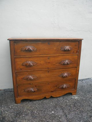 1880 ' S Early Victorian Pine Dresser 2273 photo