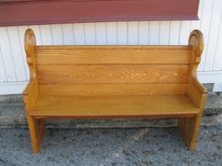 Oak Church Pew - Deacons Bench photo