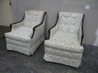 Pair Of Solid Mahogany Swan Chairs 1616 photo