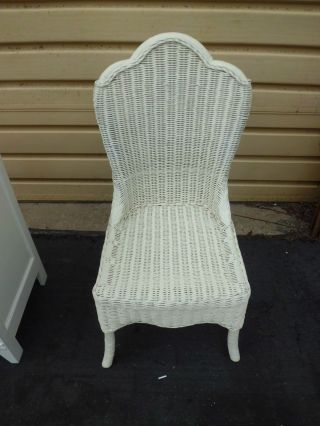 50839 Antique Wicker Victorian Side Chair photo
