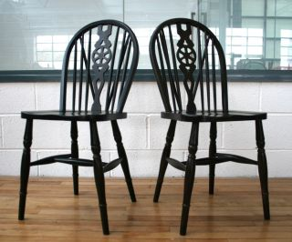 Oak Chair Windsor Wheelback Dining photo