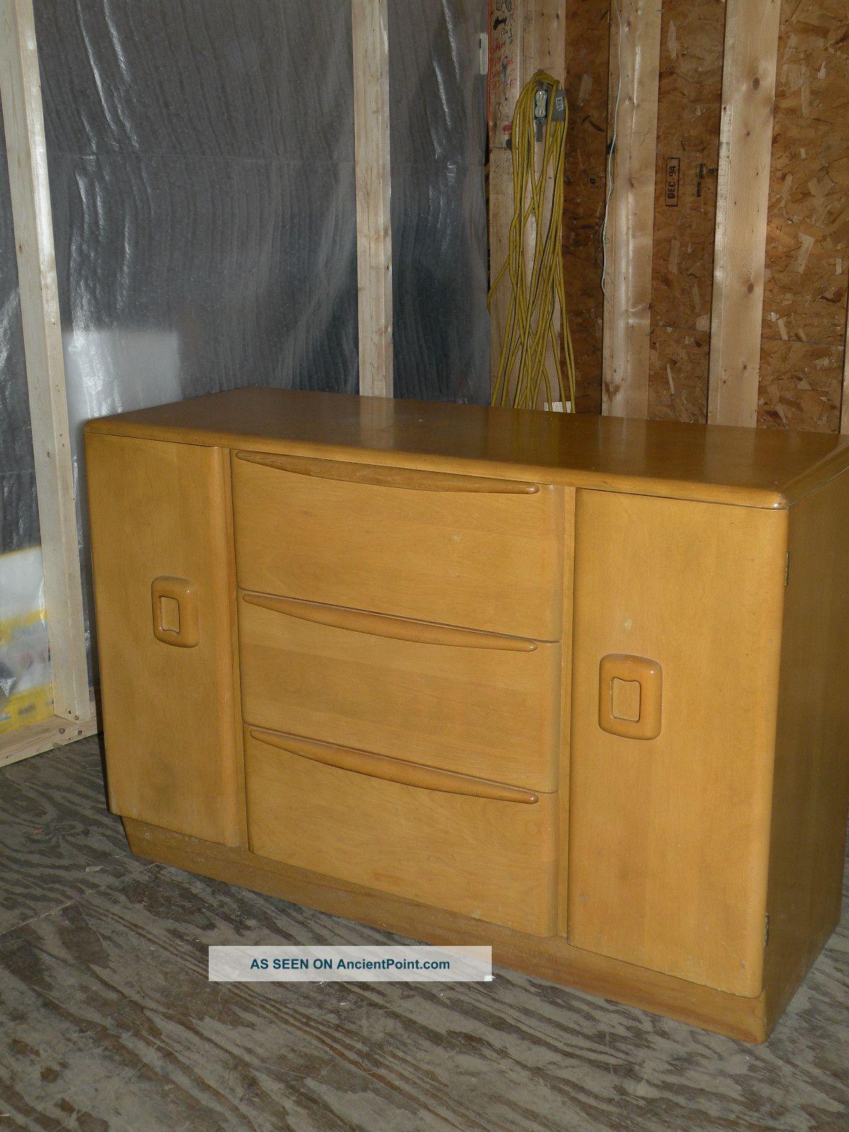 Antique Mid Century Modern Heywood Wakefield Encore Credenza Sideboard M592