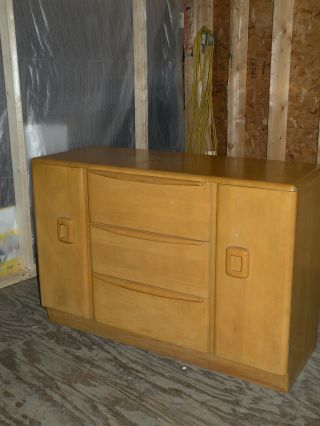 Antique Mid Century Modern Heywood Wakefield Encore Credenza Sideboard M592 photo