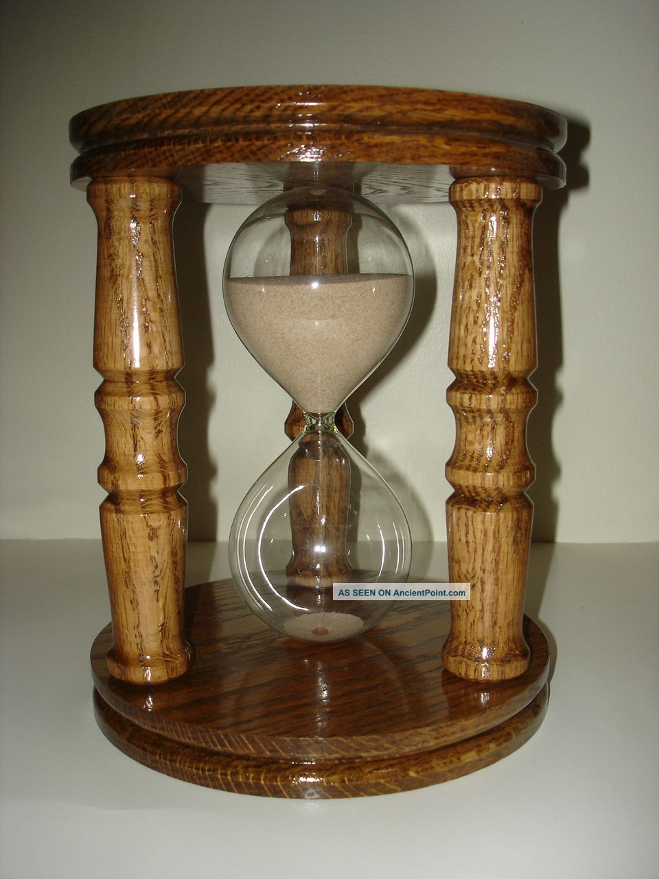Oak 9 Inch 60 Minute Sand Hourglass Other photo