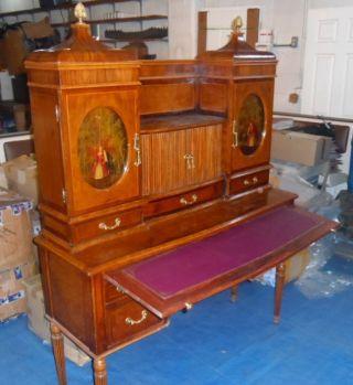 Antique French Victorian Roll Back Top Secretary Desk Circa 1800 ' S photo