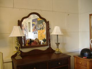 Vintage Dresser With Mirror photo