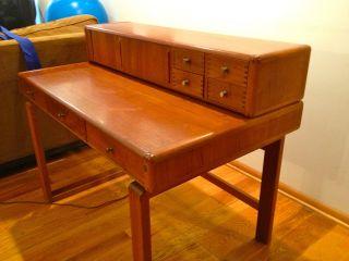 Mahogany Desk And Secretary Module - Contemporary - 1980 ' S - Condition photo