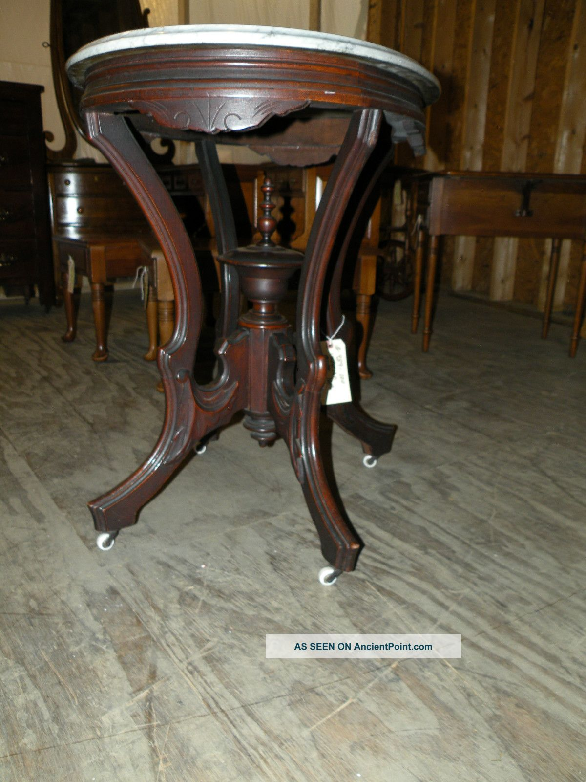 Antique Marble Top Eastlake Side Table