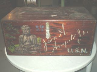 Wooden Homemade Vintage Trunk Pick Up Berlin Nh photo