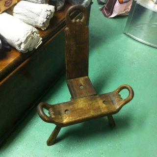 Antique Labor / Birthing Chair Wooden photo