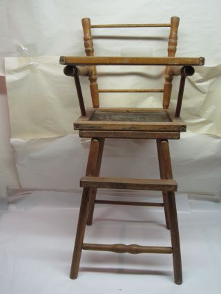 Antique Doll High Chair photo