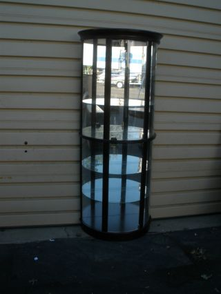 49081 Pulaski Furniture Half Round Glass Curio Cabinet With Light photo
